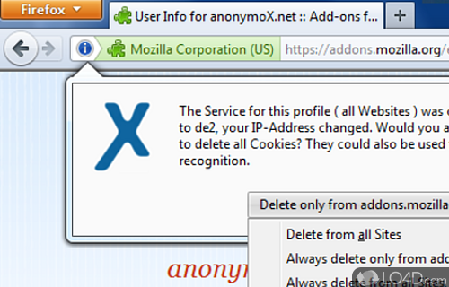 anonymoX Screenshot