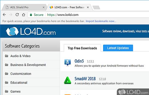 AOL Shield Screenshot
