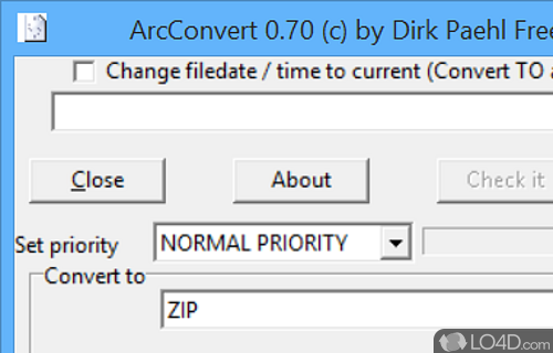 ArcConvert Screenshot