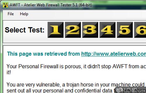 Atelier Web Firewall Tester Screenshot