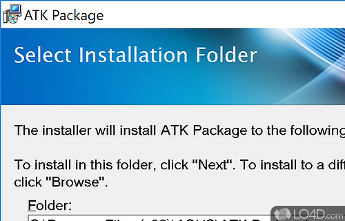 ATK Package install with windows 10 - where are the files