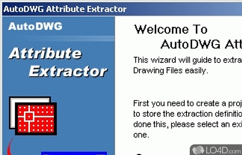 AutoDWG Attribute Extractor Screenshot