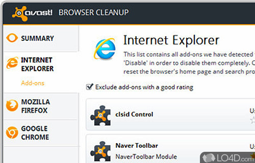 Avast Browser Cleanup Screenshot