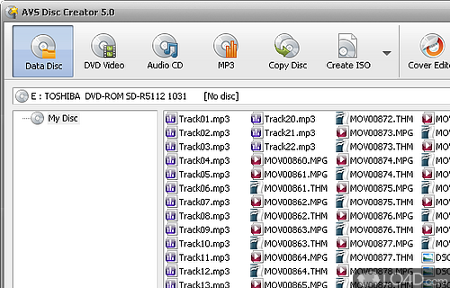 AVS Disc Creator FREE Screenshot