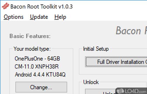 Bacon Root Toolkit Screenshot