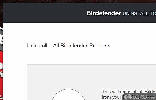 Bitdefender Uninstall Tool Screenshot