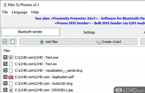 Bluetooth Phone Transfer Software Screenshot