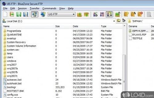 BlueZone Secure FTP Screenshot