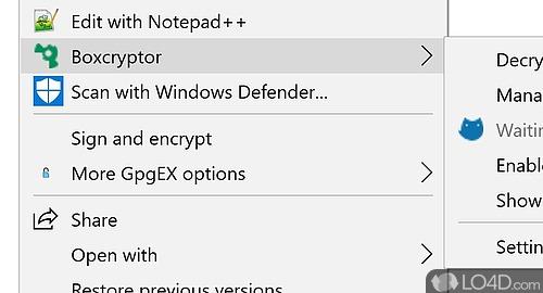BoxCryptor Screenshot