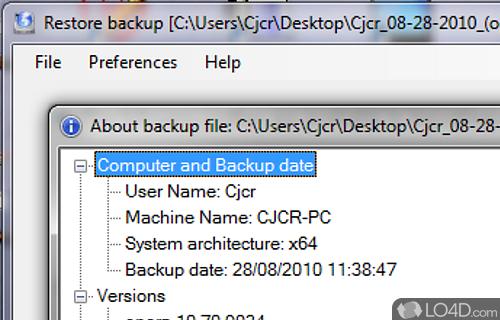 BrowserBackup Pro Screenshot