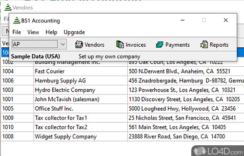 BS1 Free Accounting Screenshot