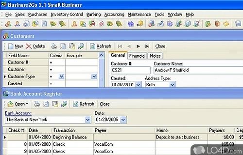 Business2Go Small Business Screenshot