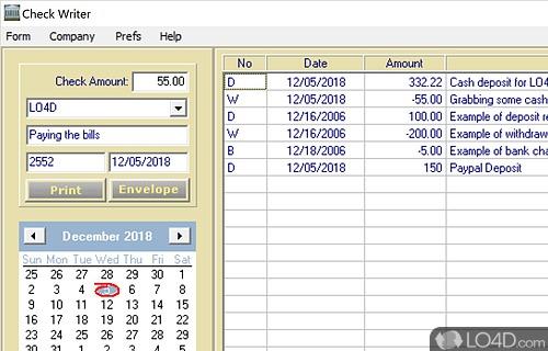 CheckWriter Screenshot