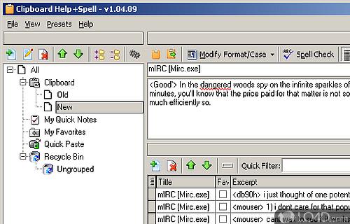 Clipboard Help and Spell Screenshot