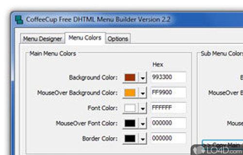 coffeecup free dhtml menu builder download