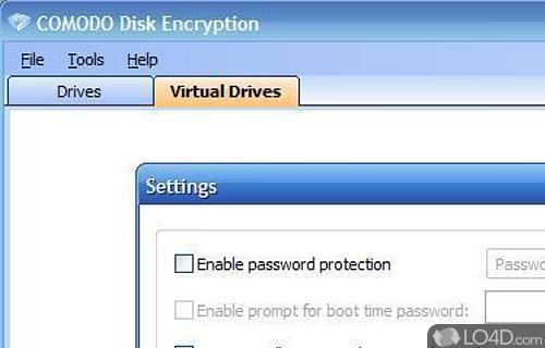 Comodo Disk Encryption Screenshot