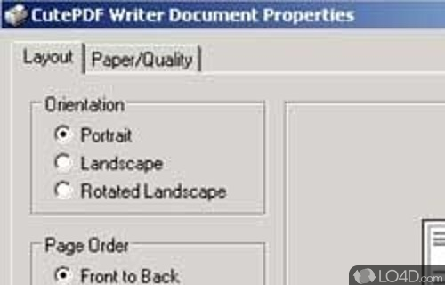 CutePDF Writer Screenshot