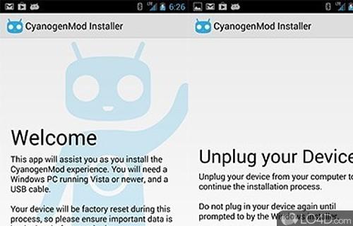 CyanogenMod Installer Screenshot