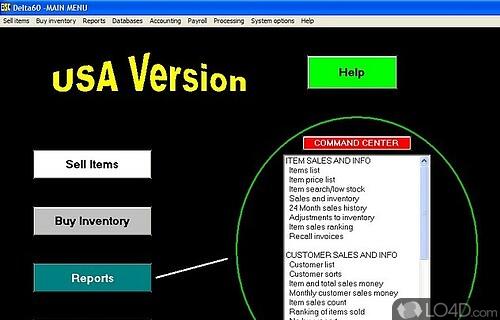 Delta60 Accounting Software Screenshot