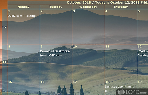 DesktopCal Screenshot