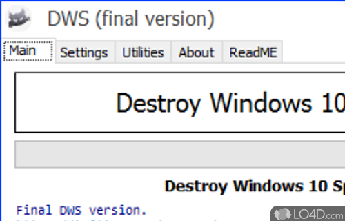 Destroy Windows 10 Spying Screenshot