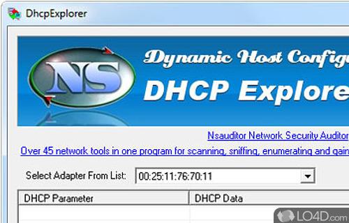 DhcpExplorer Screenshot