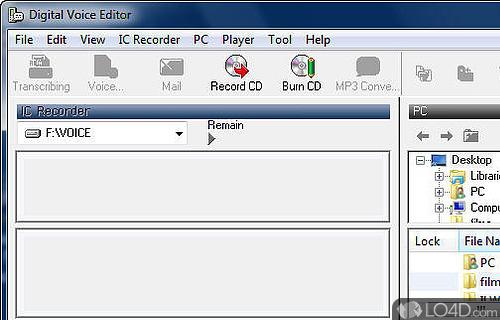 Digital Voice Editor Screenshot
