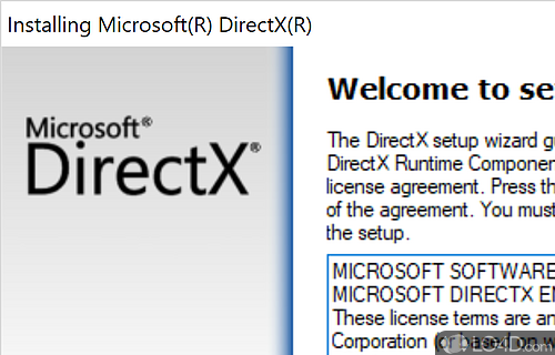 DirectX End User Runtime Web Installer June 2010 Screenshot