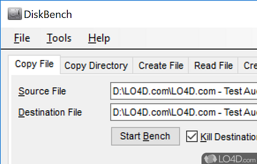 DiskBench Screenshot