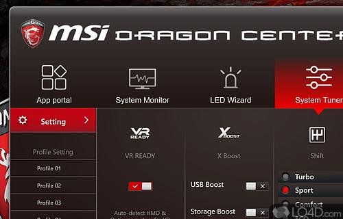 Dragon Center Screenshot