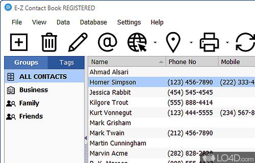 E Z Contact Book Screenshot