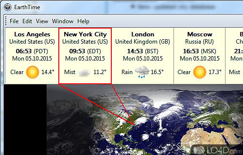 EarthTime Screenshot