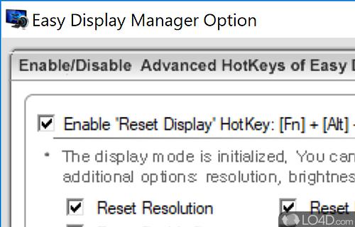 Easy Display Manager Screenshot