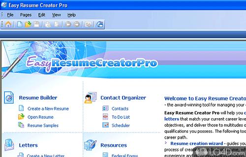 easy resume creator pro screenshot