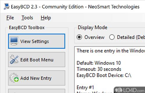 EasyBCD Community Edition Screenshot