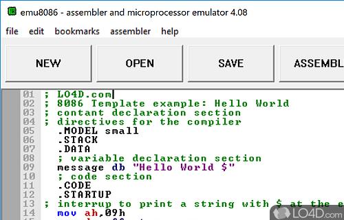 assembleur 8086 gratuit
