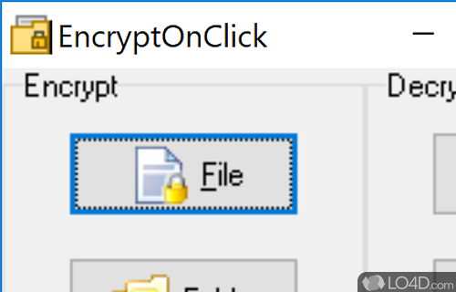 EncryptOnClick Screenshot
