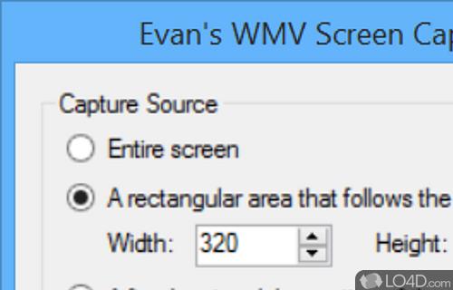 Evans WMV Screen Capture Screenshot