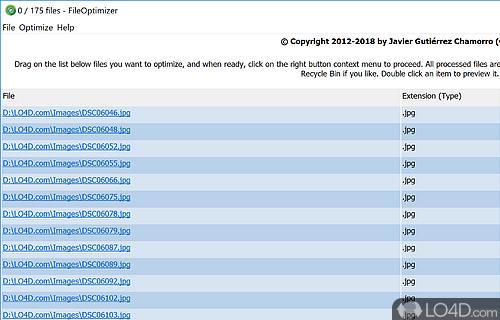 FileOptimizer Screenshot