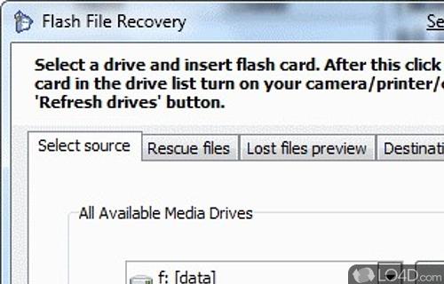 Flash File Recovery Screenshot