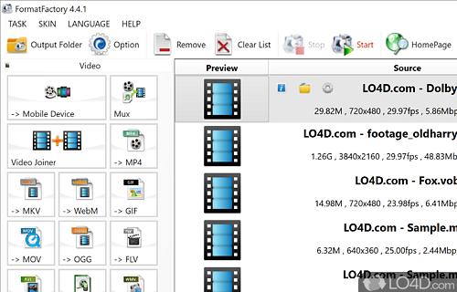 Format Factory Screenshot