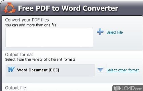 Free PDF to Word Converter Screenshot