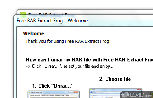 Free RAR Extract Frog Screenshot