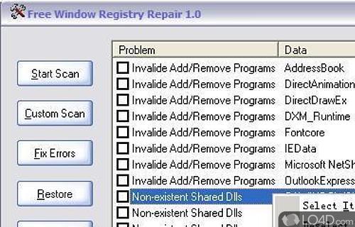 Free Window Registry Repair Screenshot