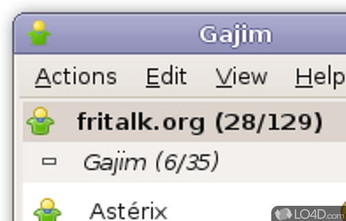 Gajim Screenshot
