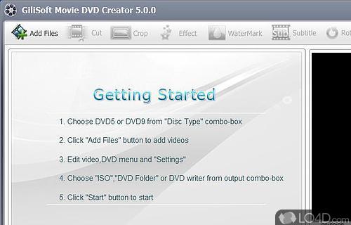 GiliSoft Movie DVD Creator Screenshot