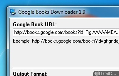 Google Books Downloader Screenshot