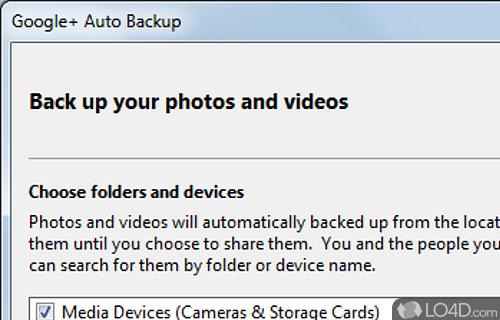 Google Plus Auto Backup Screenshot