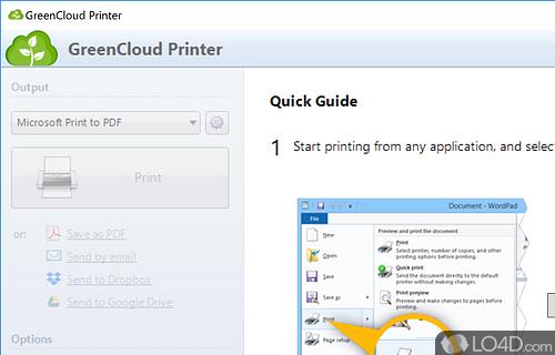 GreenCloud Printer Screenshot