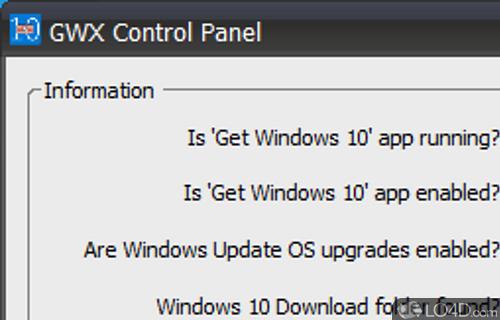 GWX Control Panel Screenshot